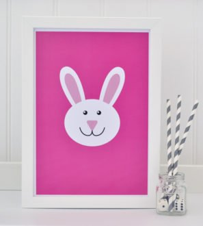 Bunny Print Pink Tommy & Lottie at Nurture Collective Ethical Baby Clothing