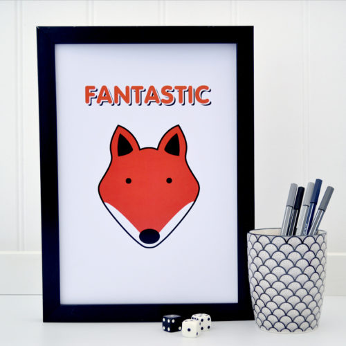 Fantastic Fox Picture Print Tommy & Lottie at Nurture Collective Ethical Baby Clothing