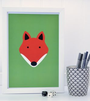 Fox Print Green Tommy & Lottie at Nurture Collective Ethical Baby Clothing