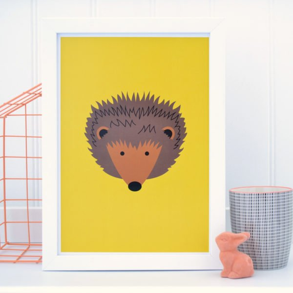 Hedgehog Print Yellow Tommy & Lottie at Nurture Collective Ethical Baby Clothing