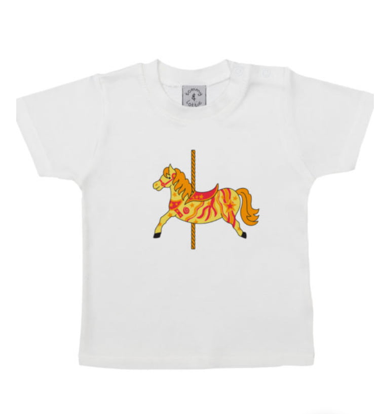 Horse Carousel T-shirt by Tommy & Lottie at Nurture Collective Ethical Baby Clothing