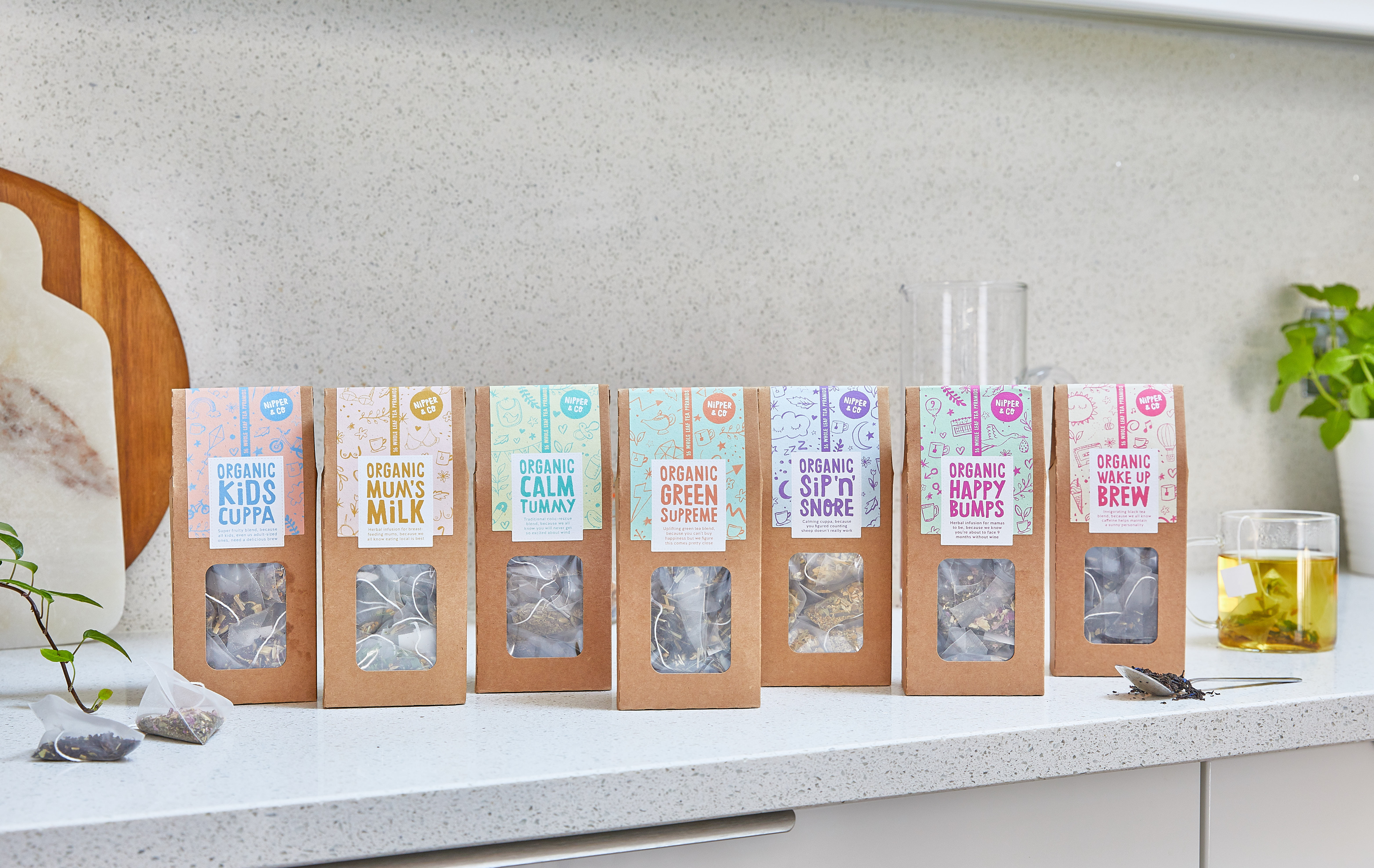Interview with Nipper & Co for Nurture Collectives Nurture Loves series Organic Tea Bags