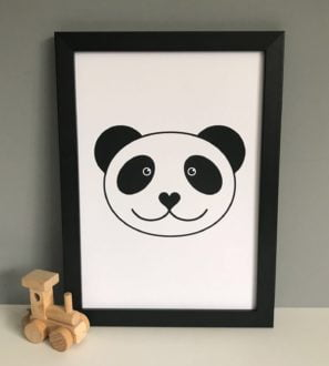Panda Print Tommy & Lottie at Nurture Collective Ethical Baby Clothing