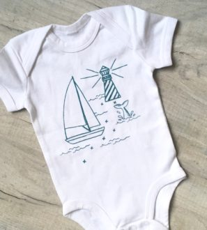 Regina Baby Body by Little Drop in the Ocean at Nurture Collective Ethical Baby Clothing