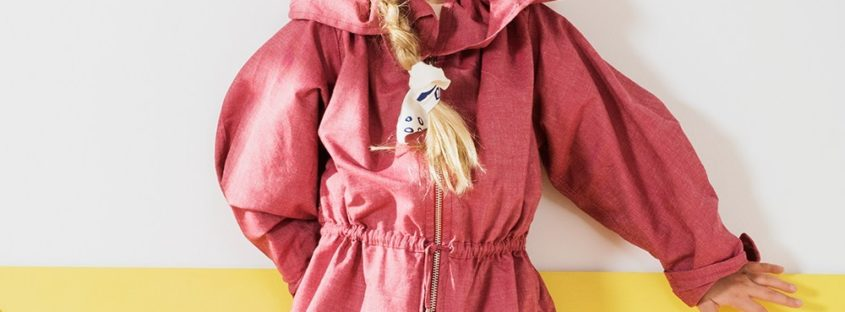 Jamie Jacket in Red by Jake & Maya at Nurture Collective Ethical Baby Clothing