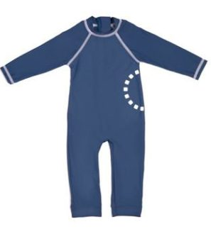 Blue & White All in One Unisex Swimwear by Noma Swimwear at Nurture Collective Ethical Baby Clothing