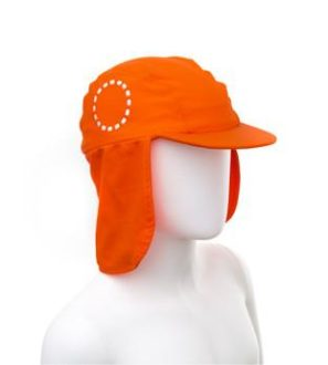 Orange & White Legionnaires Unisex Sun Hat by Noma Swimwear at Nurture Collective Ethical Baby Clothing