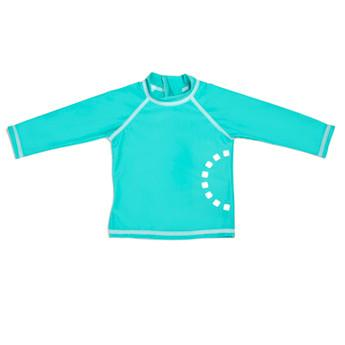 Baby Unisex Turquoise Swimwear Top by Noma Swimwear at Nurture Collective Ethical Baby Clothing