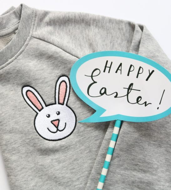 Kids Bunny Sweatshirt by Tommy & Lottie at Nurture Collective Ethical Baby Clothing