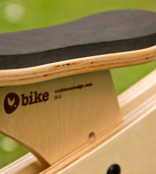 Wishbone Close up of the Bike seat available at Nurture Collective Ethical Baby