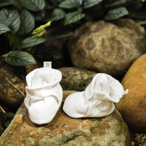 Baby's Booties by Natures Cloth at Nurture Collective Ethical Baby Clothing