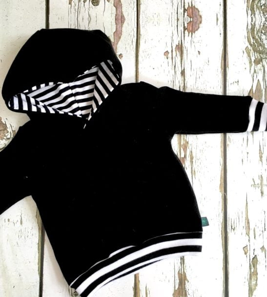 Black Sweatshirt Hoodie by Maebelle & Bo at Nurture Collective