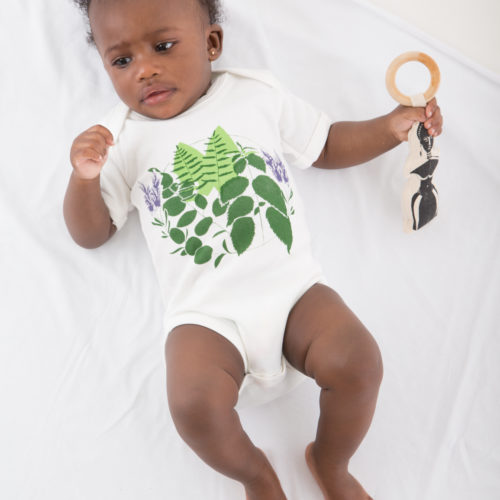 The Earth Bodysuit by Hand of Gaia at Nurture Collective Ethical Baby Clothing