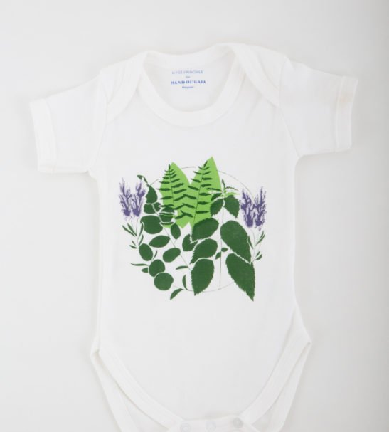 Earth Bodysuit by Hand of Gaia at Nurture Collective Ethical Baby Clothing