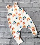 Rainbows Baby & Toddler Romper in white by Maebelle & Bo at Nurture Collective
