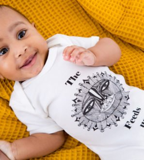 The Sun that Feeds Us Body Suit by Hand of Gaia at Nurture Collective Ethical Baby Clothing