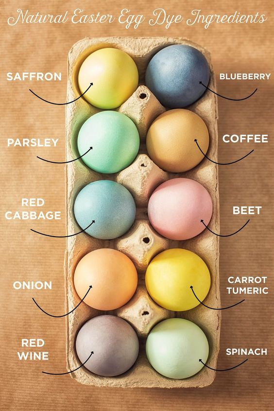 Natural Dyed Eggs for Easter for Eco Eggs by Nurture Collective Blog