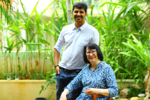 The Founders of Natures Cloth Pauline Jarvis & Shibu Pushkaran in Nurture Collectives Our Featured Maker