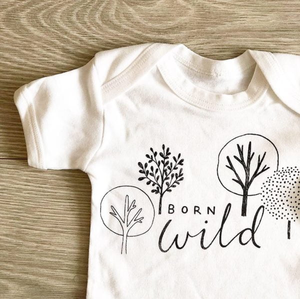 Born into the Wild Body by Little Drop in the Ocean at Nurture Collective Ethical Baby Clothing