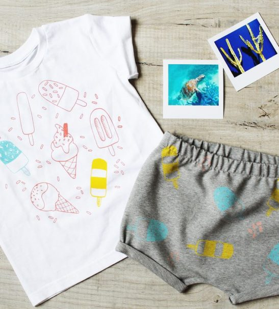 Lollipop T-shirt & Shorts Set by Little Drop at Nurture Collective Ethical Baby Clothing