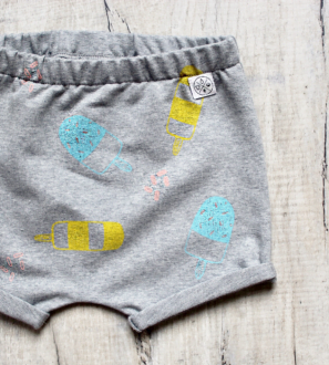 Lollipop Shorts by Little Drop at Nurture Collective Ethical Baby Clothing