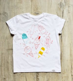 Sprinkles Tee by Little Drop in the Ocean at Nurture Collective Ethical Baby Clothing