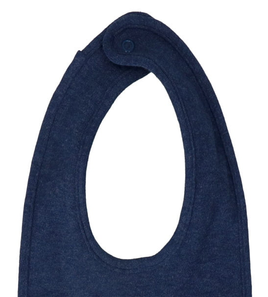 Navy Marl Bib by Hunter & Boo at Nurture Collective Ethical Baby Clothing