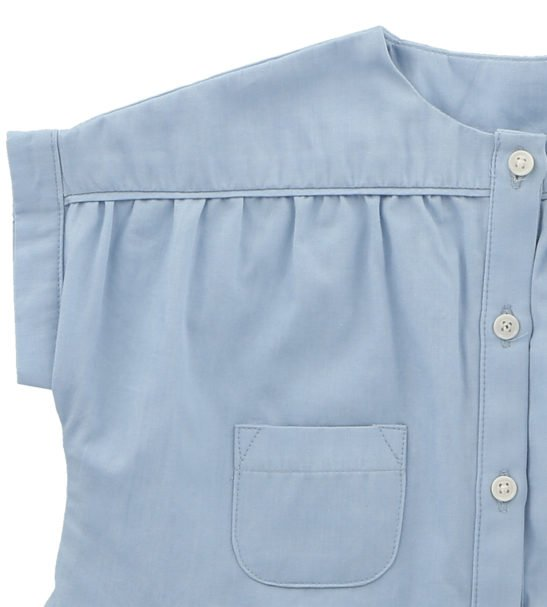 Chambray Blouse by Hunter Boo at Nurture Collective Ethical Baby Clothing