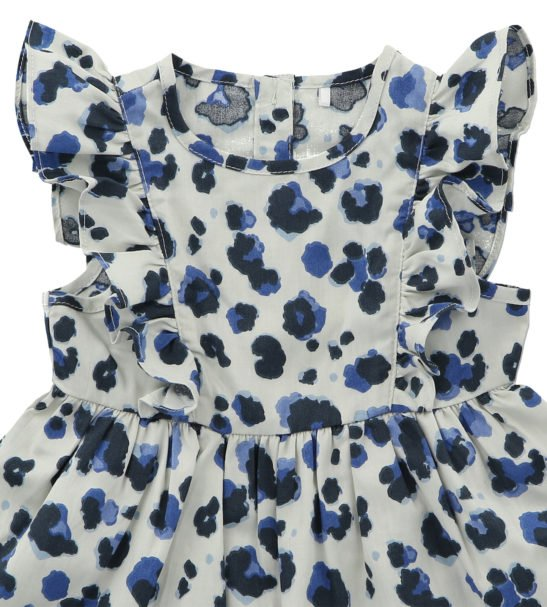 Frill Dress Yala Blue by Hunter Boo at Nurture Collective Ethical Baby Clothing