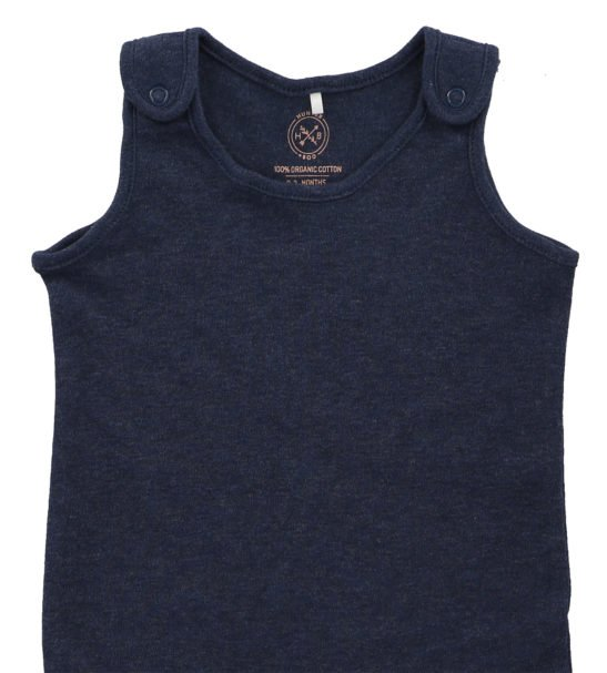 Navy Marl Jumpsuit by Hunter Boo at Nurture Collective Ethical Baby Clothing