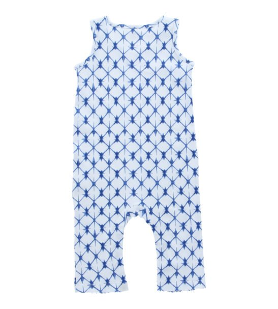 Shibori Jumpsuit by Hunter Boo at Nurture Collective Ethical Baby Clothing