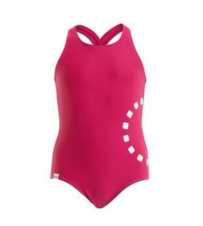 Magenta Cross Over Back Swimming Costume by Noma Swimwear at Nurture Collective Ethical Baby Clothing