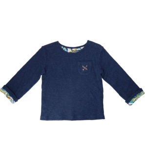 Hunter & Boo Reverse Sweater Palawan/Navy at Nurture Collective Ethical Baby