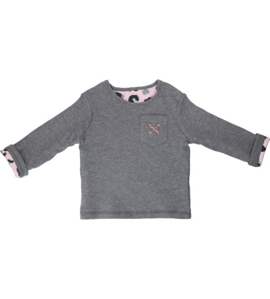 Hunter & Boo Reverse Sweater Yala Pink/Grey at Nurture Collective Ethical Baby
