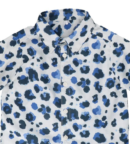 Hunter & Boo Shirt - Yala Blue at Nurture Collective Ethical Baby