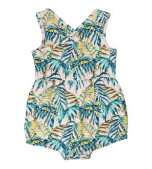 Palawan Short Romper by Hunter & Boo at Nurture Collective Ethical Baby Clothing