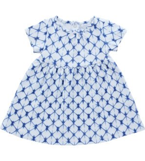 Hunter & Boo T-Shirt Dress Shibori Blue at Nurture Collective Ethical Baby
