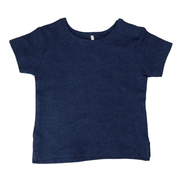 Hunter & Boo T-Shirt - Blue Marl at Nurture Collective Ethical Baby