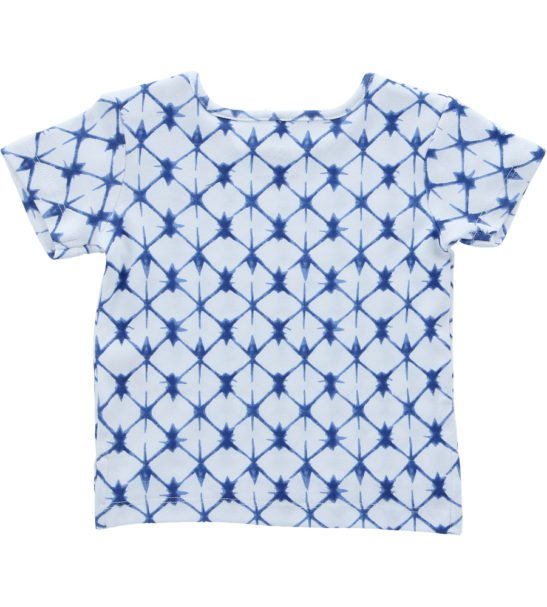 Hunter & Boo T-Shirt -Shibori Blue at Nurture Collective Ethical Baby