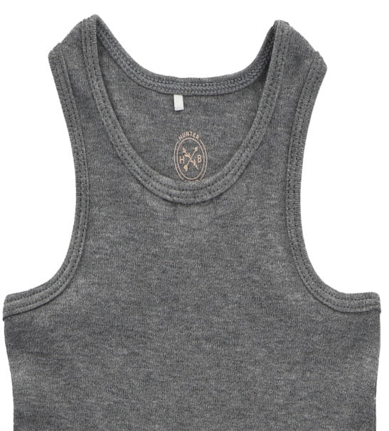 Hunter & Boo Vest Grey Marl at Nurture Collective Ethical Baby