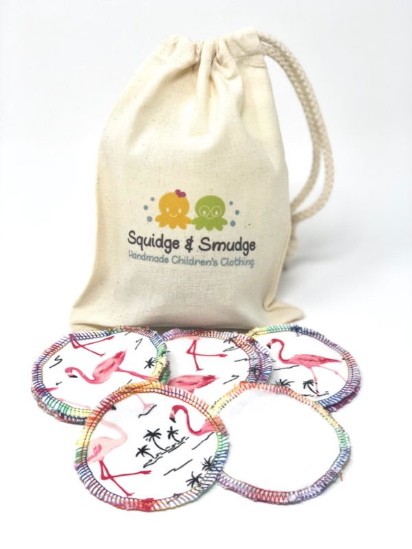Reuseable Make Up Pads by Squidge & Smudge at Nurture Collective Ethical Baby Clothing
