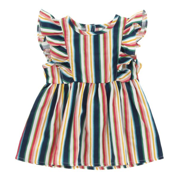 Hunter & Boo Frill Dress Helter Skelter at Nurture Collective Ethical Clothing