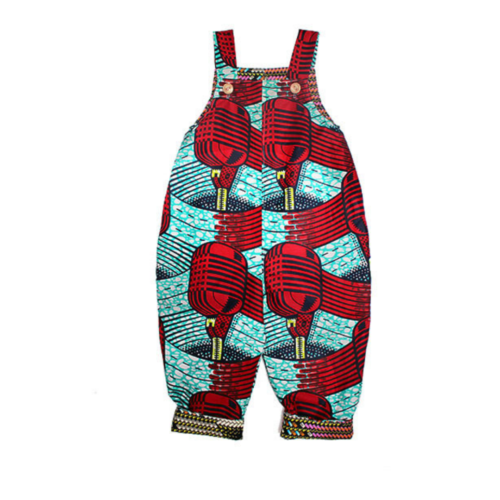 Microphone African Print Dungarees by Amamama at Nurture Collective