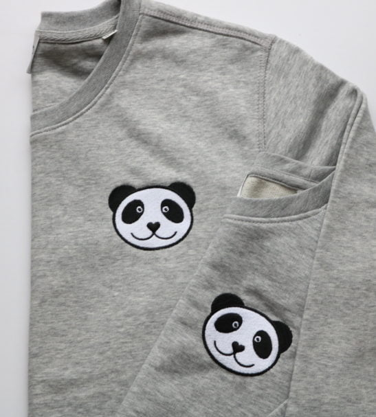 Kids Organic Panda Sweatshirt by Tommy & Lottie at Nurture Collective