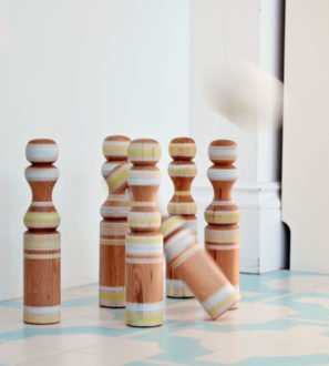 Children's Wooden Skittles Eco-Friendly Toys by Love Heart Wood at Nurture Collective