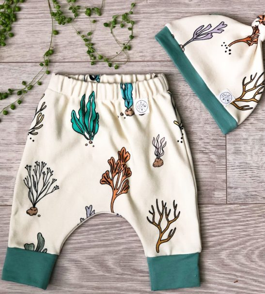 Coral Bay Hat & Trouser Pants Set by Little Drop at Nurture Collective