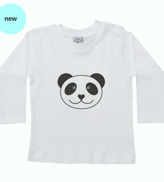 Panda Long Sleeved T-Shirt by Tommy & Lottie at Nurture Collective