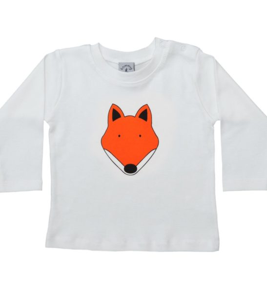 Fox Long Sleeved T-Shirt by Tommy & Lottie at Nurture Collective