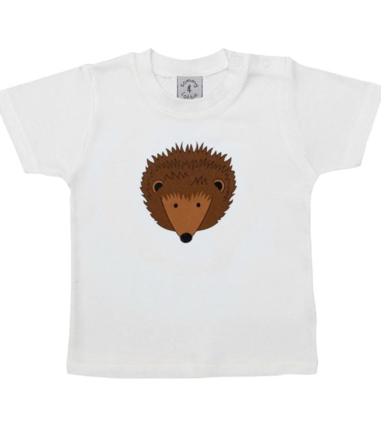 Hedgehog Short Sleeved T-Shirt by Tommy & Lottie at Nurture Collective