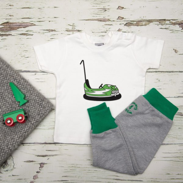 Dodgem T-Shirt & Harems Gift Set by Tommy & Lottie at Nurture Collective